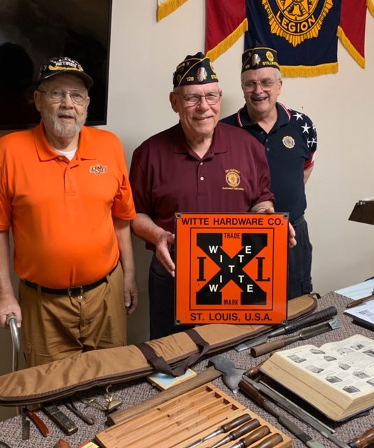 Left to right is Jim Vencill, member, Stan Witte Commander, Richard Opdyke Adjutant